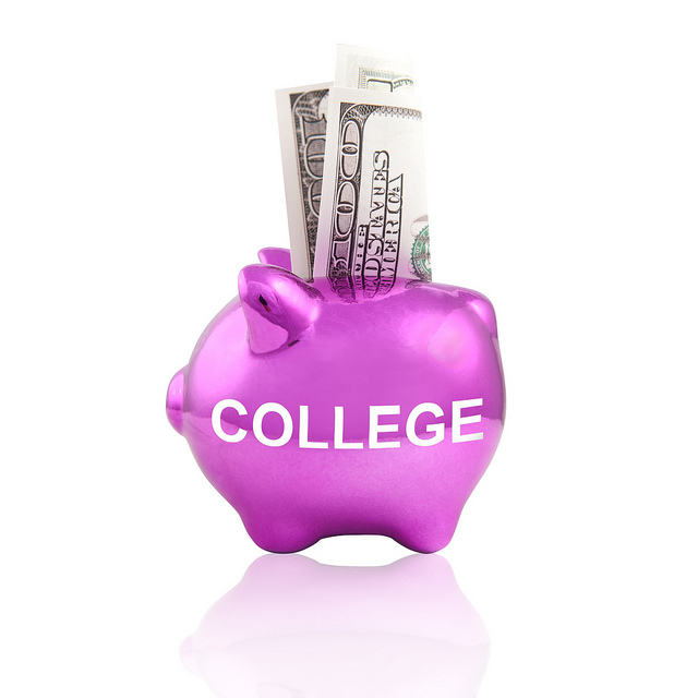 "college piggy bank by flickr user ""Tax Credits"""