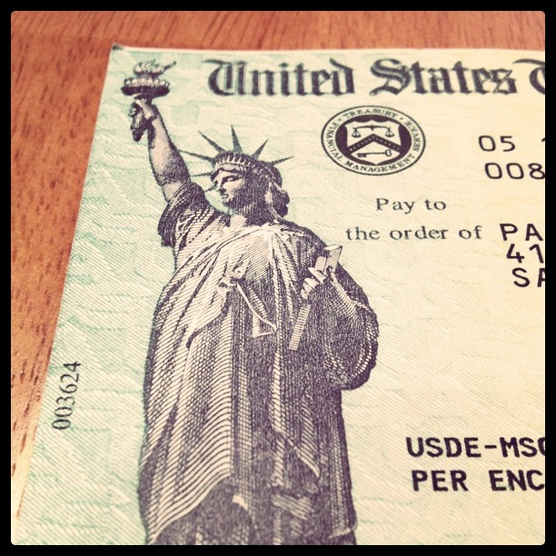 """""""Federal Loan Refund"""" pic by flickr user Jon Parise (cc license)"""